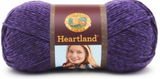 Ball of Lion Brand Heartland in colourway Hot Springs (heathered indigo)