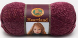 Ball of Lion Brand Heartland in colourway Badlands (heathered magenta)