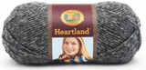 Ball of Lion Brand Heartland in colourway Great Smoky Mountain (heathered mid grey)