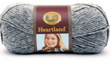 Ball of Lion Brand Heartland in colourway Mount Rainier (heathered light steel grey)