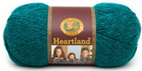 Ball of Lion Brand Heartland in colourway Cuyahoga Valley (heathered emerald green)