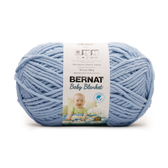 A ball of Bernat Baby Blanket in Baby Blue