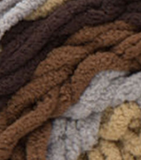 Sand Dunes (browns, tan, light grey) swatch of Bernat Blanket Stripes