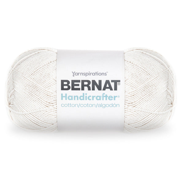 Ball of Bernat Handicrafter Cotton (large, 400g ball) in colour Off White