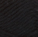 Black Licorice (black) ball of Bernat Handicrafter Cotton (small, 50g ball)