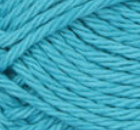 Mod Blue (bright, light blue) ball of Bernat Handicrafter Cotton (small, 50g ball)
