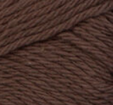 Warm Brown ball of Bernat Handicrafter Cotton (small, 50g ball)