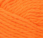 Hot Orange (bright, light orange) ball of Bernat Handicrafter Cotton (small, 50g ball)