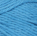 Hot Blue (bright, light blue) ball of Bernat Handicrafter Cotton (small, 50g ball)