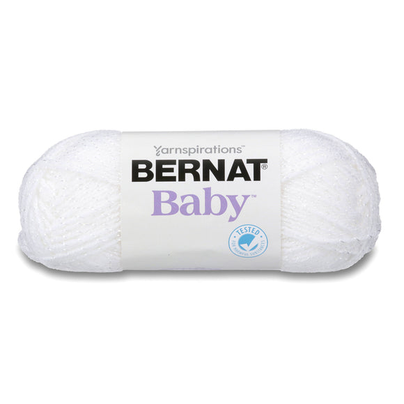 Ball of Bernat Baby Sparkle in colourway White Sparkle
