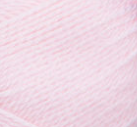 Swatch of Bernat Softee Baby yarn in shade pink (baby pink)