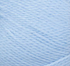 Swatch of Bernat Softee Baby yarn in shade pale blue