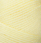 Swatch of Bernat Softee Baby yarn in shade lemon (pale light yellow)