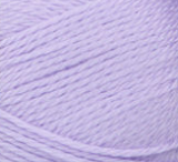 Swatch of Bernat Softee Baby yarn in shade soft lilac