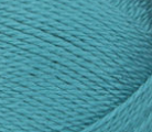 Swatch of Bernat Softee Baby yarn in shade aqua