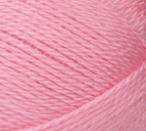 Swatch of Bernat Softee Baby yarn in shade prettiest pink (light pink)