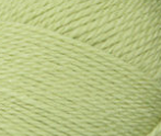 Swatch of Bernat Softee Baby yarn in shade soft fern (pale light green)