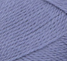 Swatch of Bernat Softee Baby yarn in shade mauve (pale medium purple)