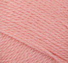 Swatch of Bernat Softee Baby yarn in shade soft peach