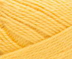 Swatch of Bernat Softee Baby yarn in shade buttercup (bright yellow)