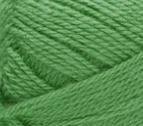 Swatch of Bernat Softee Baby yarn in shade grass green (bright medium green)