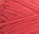 Swatch of Bernat Softee Baby yarn in shade little red wagon (pale soft red/pink)