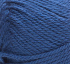 Swatch of Bernat Softee Baby yarn in shade navy