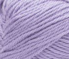 Swatch of Bernat Softee Baby yarn in shade lavender