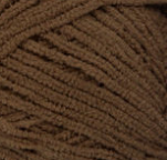 Brown Bear swatch of Bernat Baby Blanket Tiny