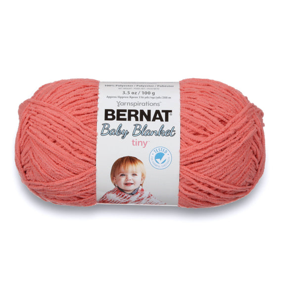 Ball of Bernat Baby Blanket Tiny in colourway Tea Rose