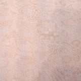 Square swatch white paisley design printed on natural/beige fabric