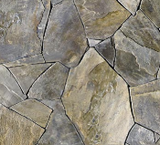Square swatch fabric from Naturescapes collection in grey flagstone (light to dark grey large stones with cracks printed fabric)