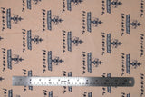 Flat swatch Friends fountain cotton flannel fabric