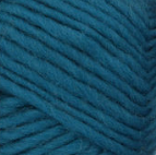 Pacific Teal swatch of Patons Classic Wool Roving
