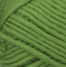 Cloverleaf (spring green) swatch of Patons Classic Wool Roving