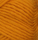 Yellow (amber) swatch of Patons Classic Wool Roving