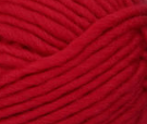 Cherry (red) swatch of Patons Classic Wool Roving