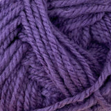 Patons Inspired Yarn swatch in Violet Eggplant (purple)