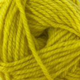 Patons Inspired Yarn swatch in Celery (yellow green)