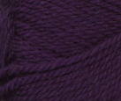 Royal Purple swatch of Patons Classic Wool Worsted