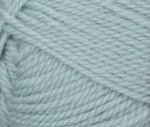 Seafoam (pale green) swatch of Patons Classic Wool Worsted