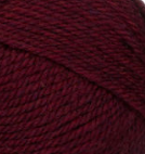 Plum Heather (deep red) swatch of Patons Classic Wool Worsted