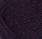 Passion Heather (dark indigo) swatch of Patons Classic Wool Worsted