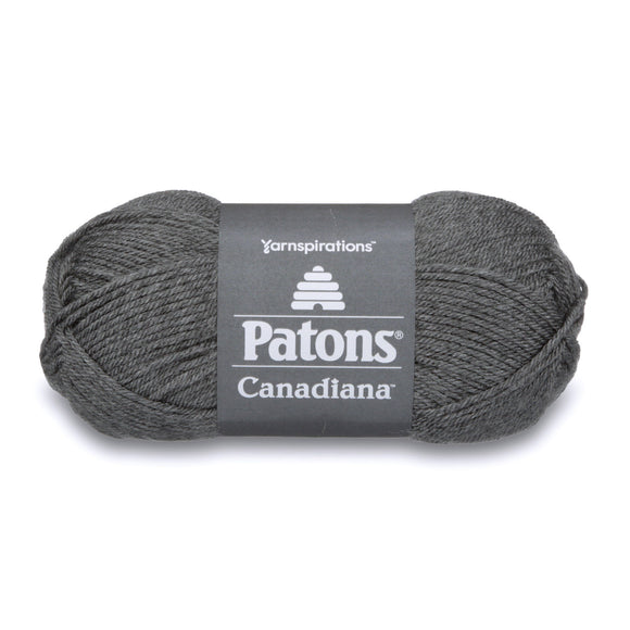 Ball of Patons Canadiana in colourway Medium Grey Mix