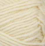 Aran (ivory) swatch of Patons Classic Wool DK Superwash
