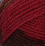 Autumn Spice (red, brown, taupe) swatch of Patons Classic Wool DK Superwash