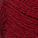 Claret (deep red) swatch of Patons Classic Wool DK Superwash