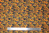 Flat swatch fire alarm fabric (black fabric with orange/yellow flames layered over grey flames)