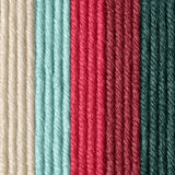Strawberry Chill colourway (white, light and dark medium pink, light blue, teal)