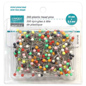 Rainbow Plastic Head Pins - 34mm - 350 pcs - Unique
